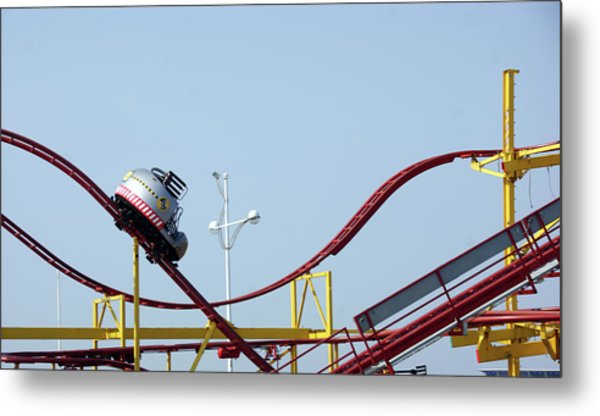 Southport.  The Fairground. Crash Test Ride. Metal Print