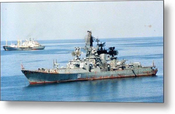 Soviet Navy Kresta II Class Cruiser Metal Print