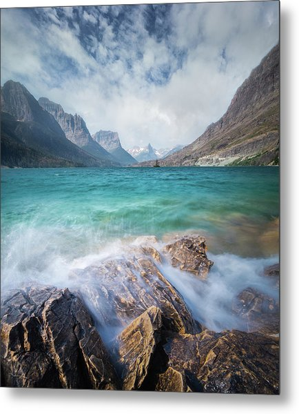Metal Print featuring the photograph Splash / St. Mary Lake, Glacier National Park  by Nicholas Parker