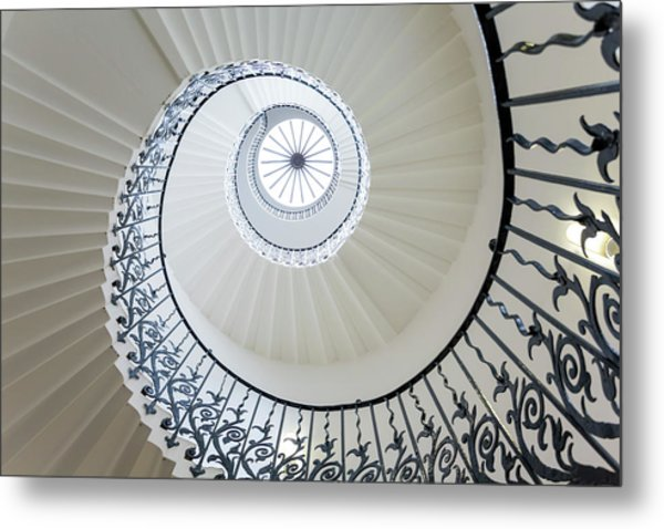 Spiral Staircase, The Queens House Metal Print