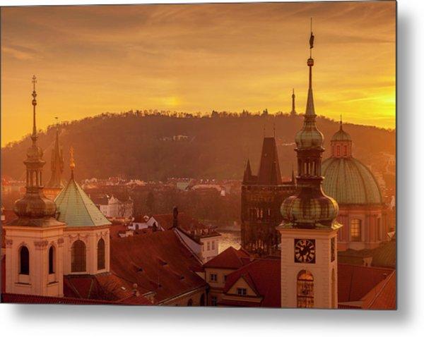 Spires Of Prague Metal Print