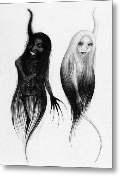 Spirits Of The Twin Sisters - Artwork Metal Print