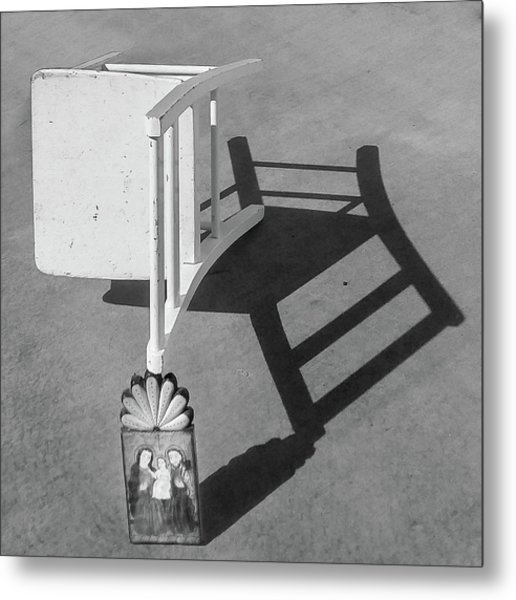 Questions / The Chair Project Metal Print