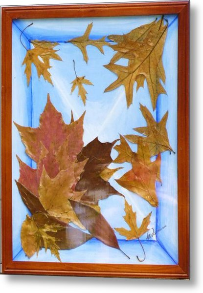 Splattered Leaves Metal Print