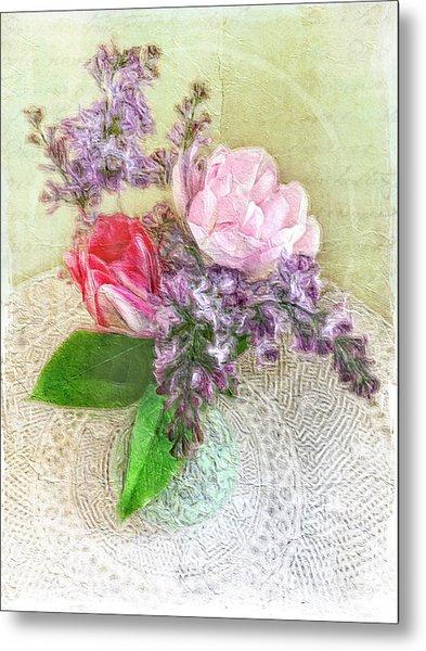 Spring Song Floral Still Life Metal Print