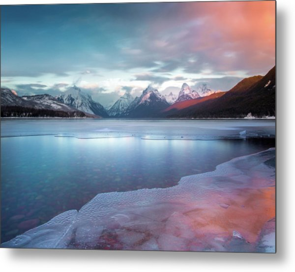 Metal Print featuring the photograph Spring Thaw / Lake Mcdonald, Glacier National Park  by Nicholas Parker
