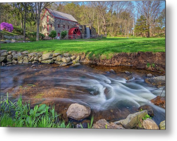 Springtime At The Grist Mill Metal Print