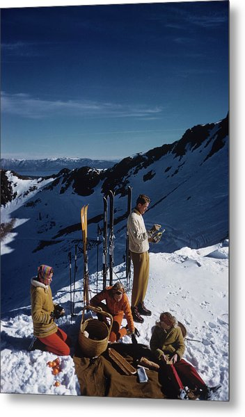 Squaw Valley Picnic Metal Print by Slim Aarons