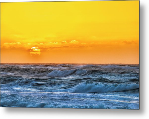 Sunset On A Windy Evening Metal Print by Fernando Margolles
