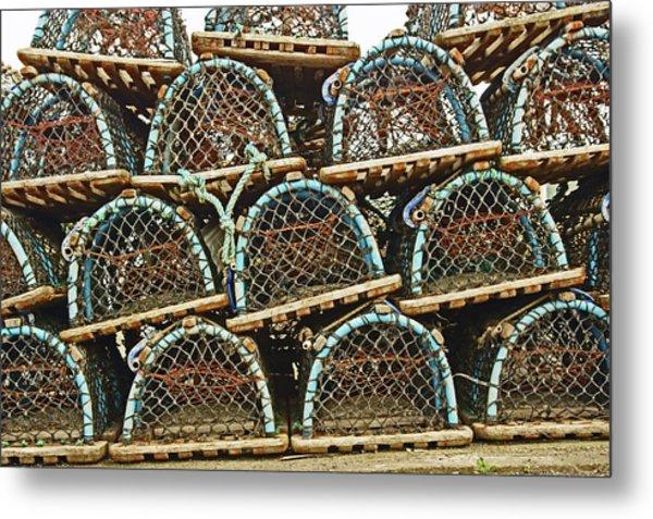 St. Andrews. Lobster Pots. Metal Print