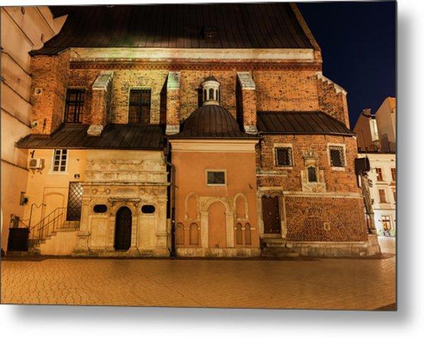 St Barbara Church At Night In Krakow Metal Print