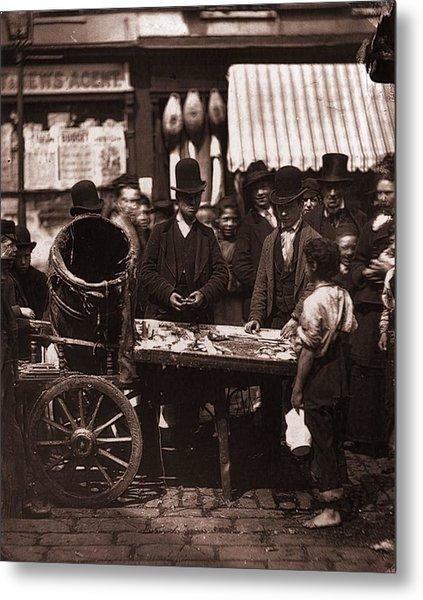 St Giles Market Metal Print by John Thomson