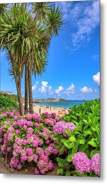St Ives Cornwall - Summer Time Metal Print
