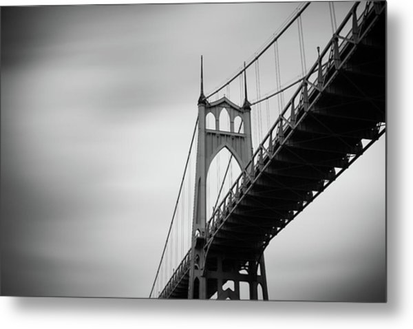 Metal Print featuring the photograph St. Johns Bridge by Nicole Young