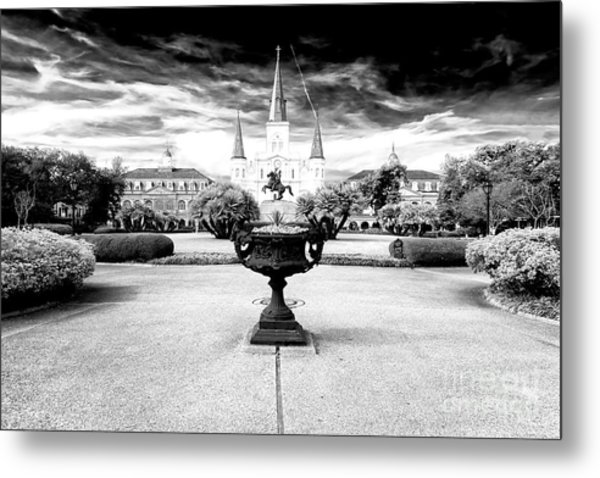 St. Louis Cathedral Dimensions New Orleans Metal Print