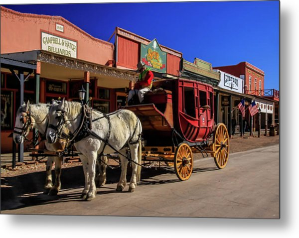 Stagecoach, Tombstone Metal Print