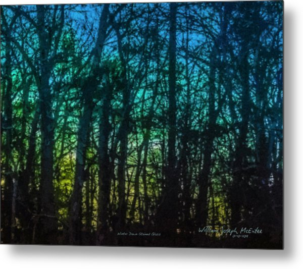 Stained Glass Dawn Metal Print