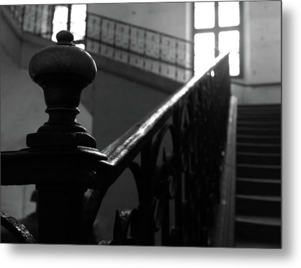 Metal Print featuring the photograph Stairs, Handrail by Edward Lee