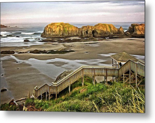 Stairs To The Beach Metal Print