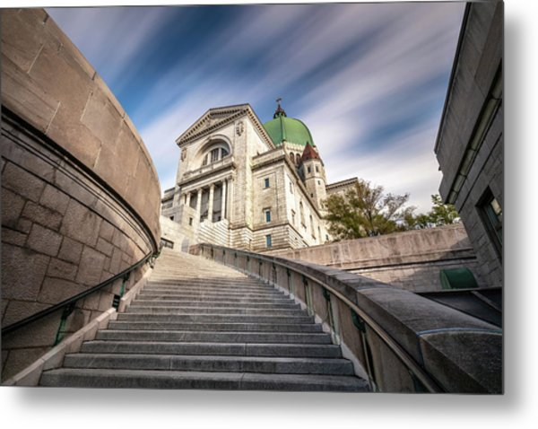 Metal Print featuring the photograph Stairway To St Joseph Oratory by Pierre Leclerc Photography