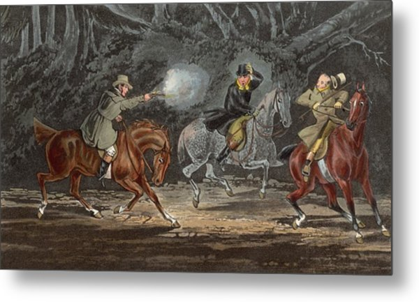 Stand And Deliver Metal Print by Hulton Archive