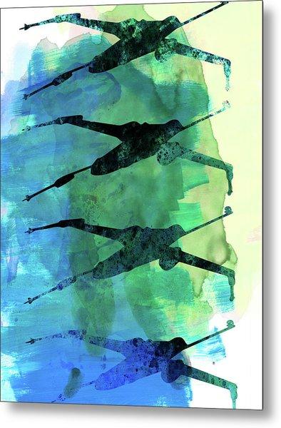 Star Warrior X-wing Watercolor 1 Metal Print