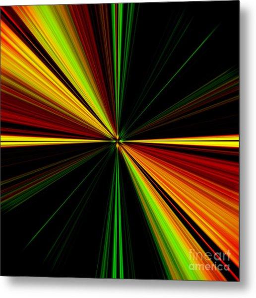 Starburst Light Beams Design - Plb461 Metal Print