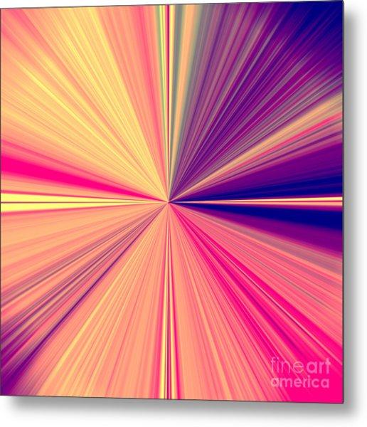 Starburst Light Beams In Abstract Design - Plb457 Metal Print