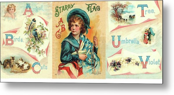 Starry Flagg Wrap A Round Metal Print