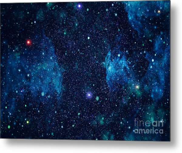 Starry Outer Space Background Texture Metal Print by Zakharchuk