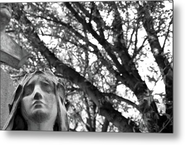 Metal Print featuring the photograph Statue, Contemplating by Edward Lee