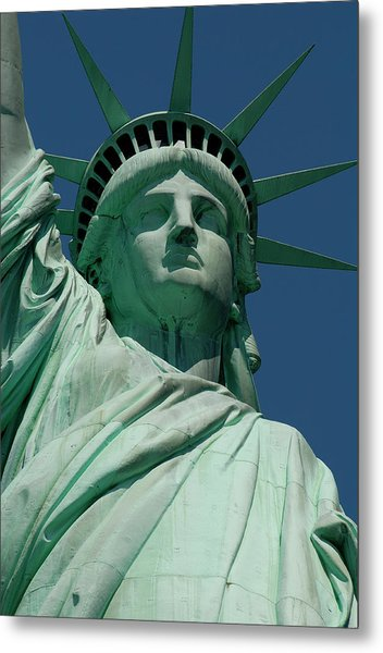 Statue Of Liberty, Nyc Metal Print by Manrico Mirabelli