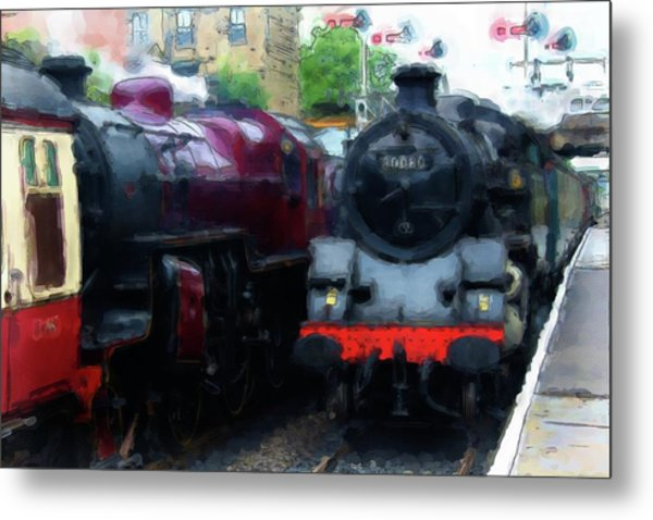 Steam Trains Metal Print