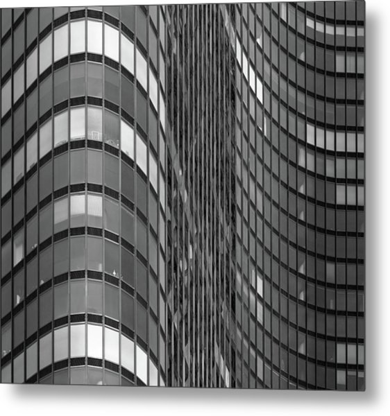 Steel And Glass Curtain Wall Metal Print by Photo By John Crouch