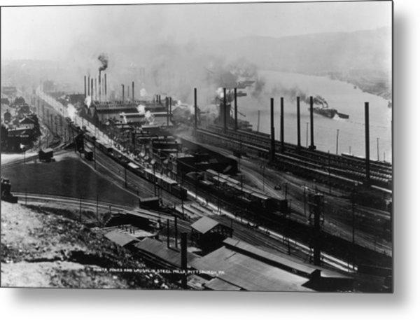 Steel Mills Metal Print by Fotosearch