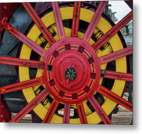 Metal Print featuring the photograph Steele Power Wheel by Mark Dodd