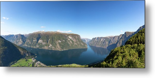 Metal Print featuring the photograph Stegastein, Norway by Andreas Levi