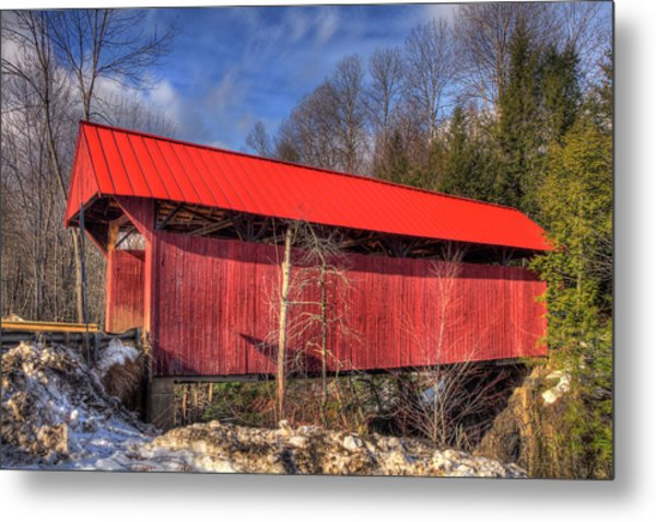 Metal Print featuring the photograph Sterling Covered Bridge - Stowe, Vt by Joann Vitali