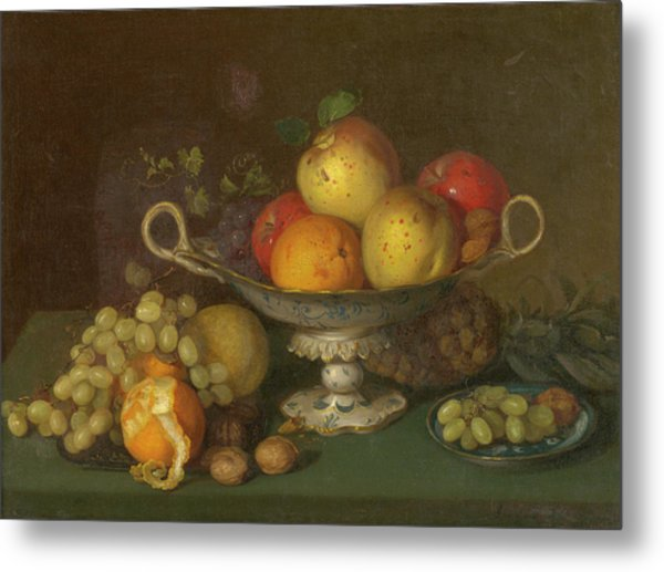 Still Life With Fruit, 1844 Metal Print