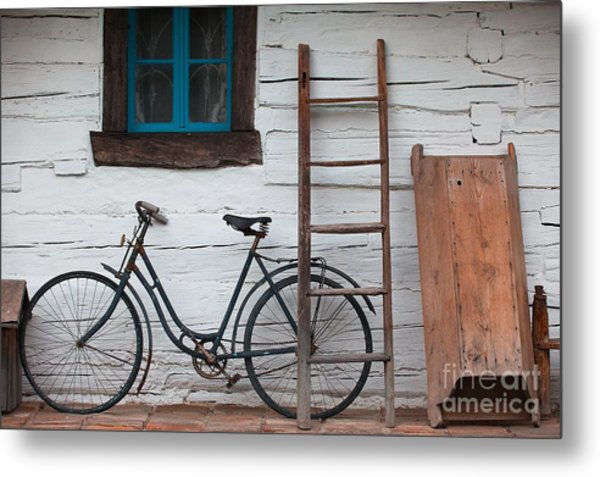 Still Life With Old Barn Metal Print