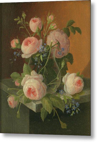Still Life With Roses, Circa 1860 Metal Print