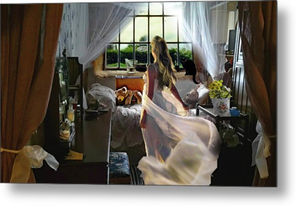 Metal Print featuring the photograph Still Twirling In My Room by Alison Frank