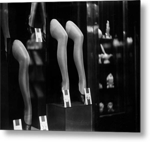 Stocking Show Metal Print by General Photographic Agency