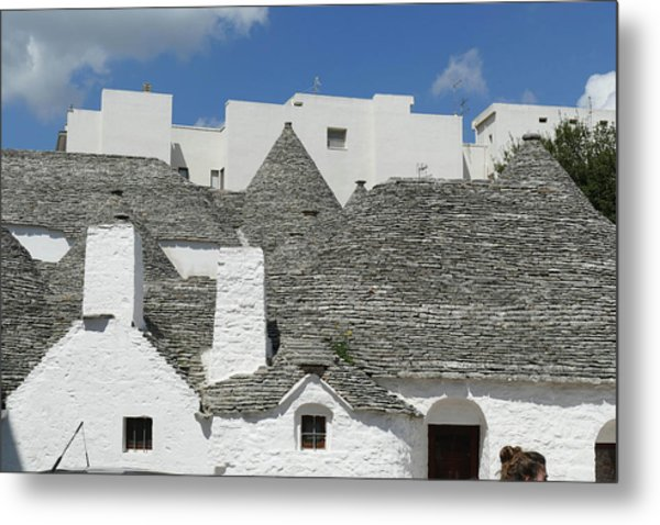 Stone Coned Rooves Of Trulli Houses Metal Print