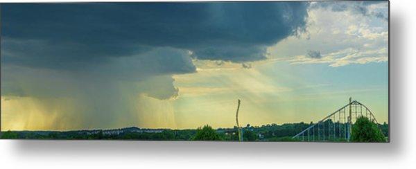 Storm Approaching Amusement Park Metal Print