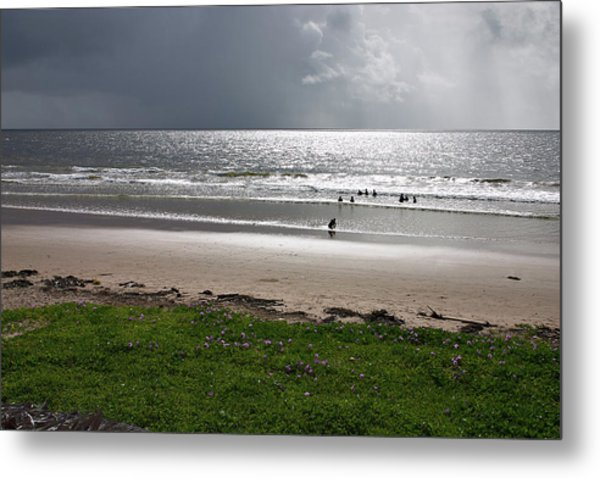 Storm Brewing Over The Sea Metal Print
