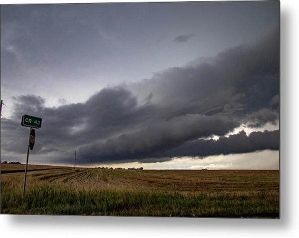 Storm Chasin In Nader Alley 004 Metal Print