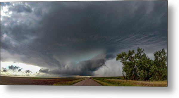 Storm Chasin In Nader Alley 008 Metal Print