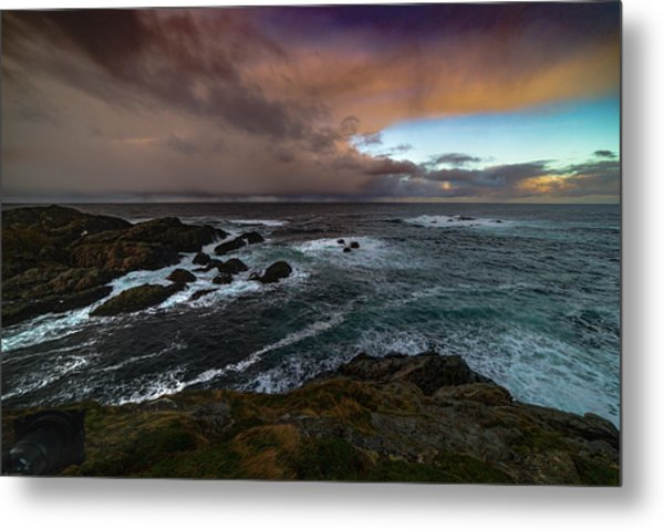 Storm Coastline Metal Print