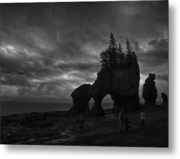 Storm Over Fundy Metal Print